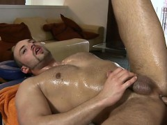 Shaggy Dude Gets A Lusty Anal Spooning From Masseur