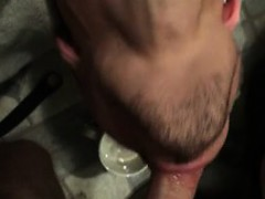 Throatfucking a sweet twink and cumming his neck down