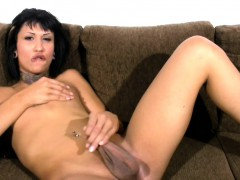 short-hair-chick-with-dick-strokes-small-cock-and-big-balls