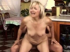 Granny Blonde Is Going To Do Any Such Thing For Cock