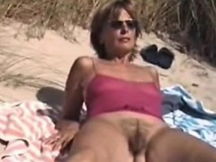 Hairy Amateur Mum Outdoors Myong