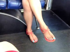 Candid Asian Feet And Legs On The Lanora