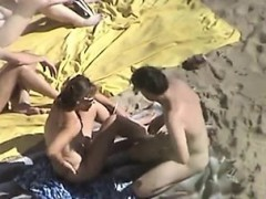 Two Couple On The Beach Mitzi