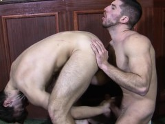 Rimmed British Jock Buttfucked On Benchpress