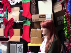 Shoplyfter Redheaded Cutie Pays Price For Stealing