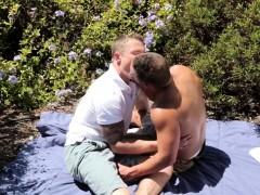 Outdoor Jock Cockriding Stud After Picnic
