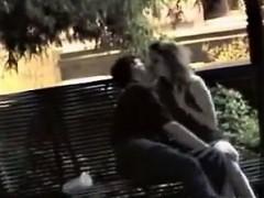 bench-fingering-was-caught-by-voyeur