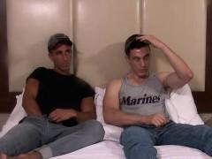 Hot Army Dudes Jake Greey And Johnny Hardcore Barebacking