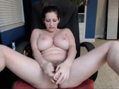 Hot Babe Sucking Her Tits And Masturbating On Cam