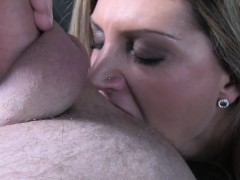 Blonde Rimming Big Cock Taxi Driver In His Cab