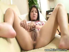 Eating A Hairy Japanese Teen Pussy