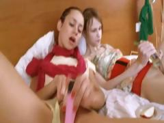 Two Russian Cheerleaders Enjoy Threesome