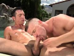 Big dick gay outdoor sex and cumshot