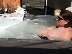 Masturbating In The Hot Tub