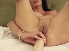 Mature milf anal dildo