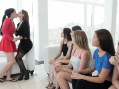 An Ordinary Job Interview Turns Into Amazing Lesbian Orgy