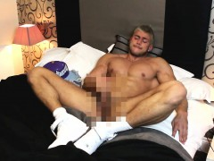 Cocky Capped Hunk Wanking In Nikes