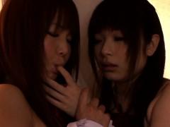 Nippon Les Schoolgirls Secretly Nipplesucking