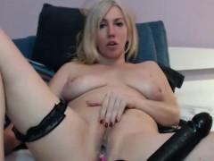 Sensual Blonde Camgirl Loves Masturbation Show