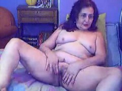 Mature Granny Fucking Her Ass With Her Toy