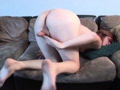 Ginger Trans Amateur Jerks On Casting Couch