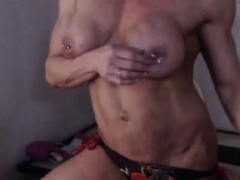 big-boobs-shaved-pussy-striptease