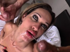 pulled-latina-tgirl-jizzed-in-bareback-trio