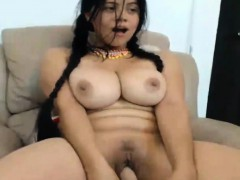 Busty Brunette Latina Teen Girl On Webcam