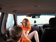 Fake Driving School Swotty ginger student