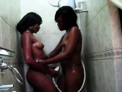 2-big-booty-african-share-a-hot-shower-in-this-homemade