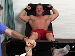Hot Muscle Guy Gets Armpits And Feet Tickled Hard By An