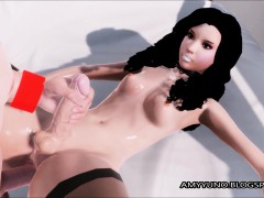 3d Guy On Futanari Sissy Babe!