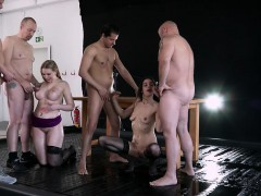 This Orgy Is Just Off The Hook! Watch Two Horny Sluts Get
