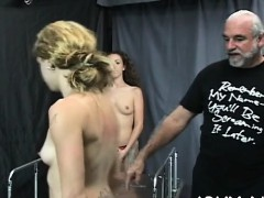 Bare Woman Screams With Fellow Roughly Playing With Her Vag