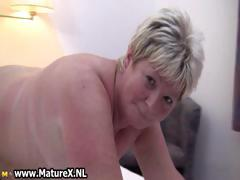 Chubby Mature Blonde Is Horny And Plays Part2