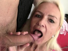 Blonde Mother Seduces Son in law