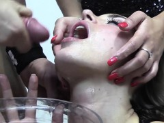 Premium Bukkake – Nicole Swallows 59 Huge Mouthful Cumshots PornoShok-dir