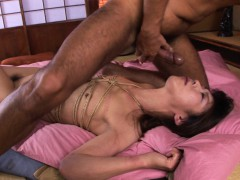 roped-asian-gags-on-a-hairy-boner-after-being-fingered