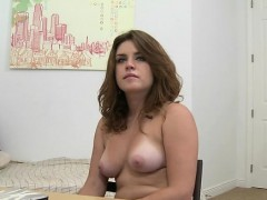 wild chick has a exciting casting session with hung dude