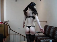 Hot Lingerie Striptease