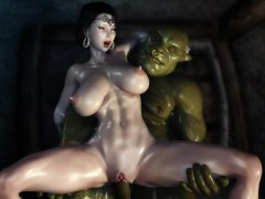 3d-hentai-two-orcs-find-some-sexy-milf-and-get-her-creampied