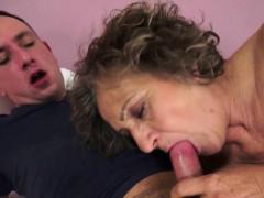 Sucking Granny Drips Cum