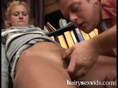 Blonde Horny Hairy Pussy Surprise
