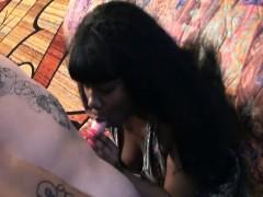 Naughty Ebony Enjoys Pussy Pounding By A White Cock