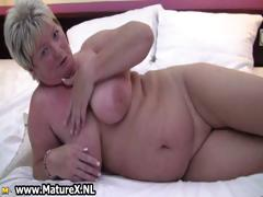 Fat Old Lady Spreads Her Pussy And Fucks Part6