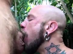 Tattooed Hunk Ass Creamed