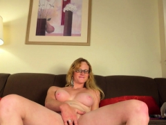 Spex Post Op With Bigtits Toying Her Pussy