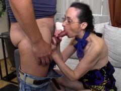 mature lady screwing and blowing