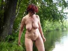 Jap Big Boobs Massaged Outdoor