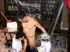 three-painting-boys-take-a-break-to-suck-old-cock